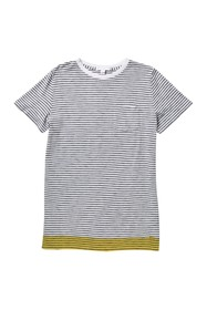 Burberry Dallin Stripe Print Pocket T-Shirt (Big B