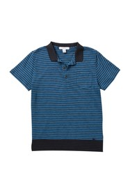Burberry Luther Short Sleeve Stripe Print Polo (Li