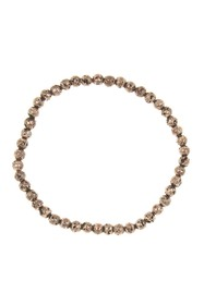 LINK-UP 4mm Rose-Gold Plated Beaded Bracelet