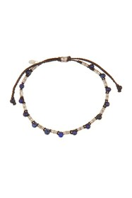 LINK-UP Sterling Silver & Lapis Lazuli Beaded Brac