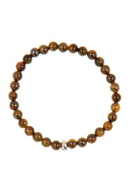 LINK-UP Tigers Eye Beaded Stretch Bracelet