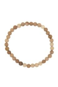 LINK-UP Matte Smokey Topaz Beaded Stretch Bracelet