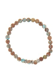 LINK-UP Matte Chrysocolla Beaded Bracelet
