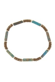 LINK-UP 13mm Chrysocolla Cylin Braclet