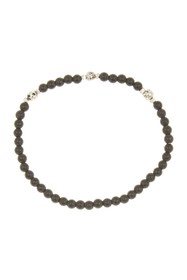 LINK-UP 4mm Matte Onyx Beaded Stretch Bracelet