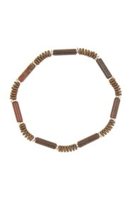LINK-UP 13mm Iron Jasper Cylin Bracelet