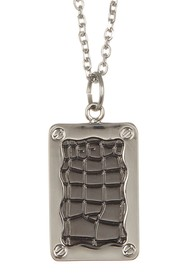 LINK-UP Crocodile Print ID Tag