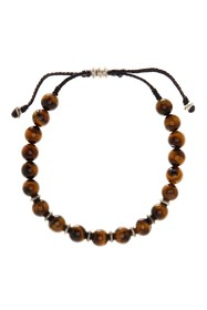LINK-UP Tigers Eye Beaded Cord Bracelet