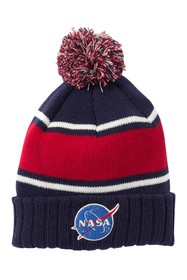 American Needle Pillow Line NASA Pompom Knit Beani