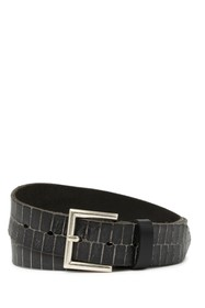W.KLEINBERG Squared Leather Belt
