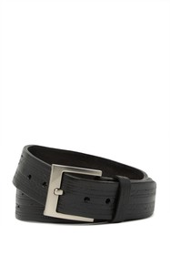 W.KLEINBERG Track Embossed Leather Belt