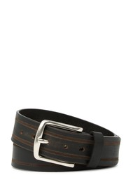 W.KLEINBERG Distressed Striped Leather Belt