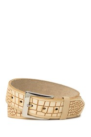 W.KLEINBERG Croc Embossed Leather Belt