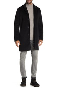 Cole Haan Notch Collar Button Front Coat
