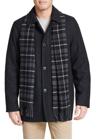 Dockers Weston Wool Blend Car Coat & Removable Sca