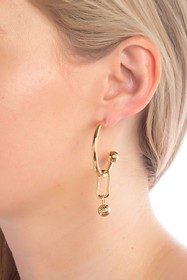 Burberry Tube Hoop Earrings