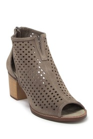 Dirty Laundry Tessa Suede Perforated Peep Toe Boot