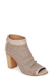 RON WHITE Shyla Perforated Peep Toe Bootie