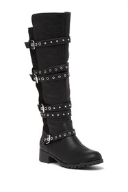 Fergalicious Foxley Studded Grommet Buckle Knee Hi