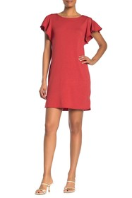 Max Studio Flutter Sleeve Knit Dress