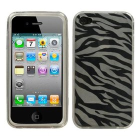 Insten T-Clear Zebra Skin Candy Skin Case For iPho