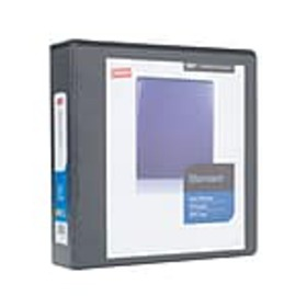 Staples Standard 2 3-Ring View Binder, Black (2644
