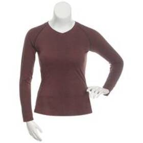 Womens Starting Point Long Sleeve Super Soft V-Nec