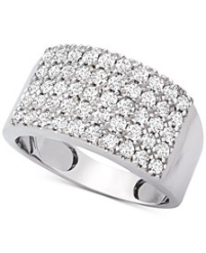 Diamond Pavé Statement Ring (1 ct. t.w.) in 14k Wh