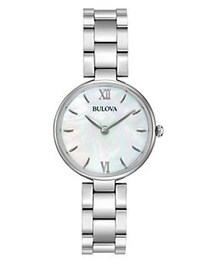 Bulova Ladies' Classic Analog Stainless Steel & Mo