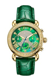 JBW Women's Timepiece Croc Embossed Leather Strap