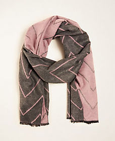 Reversible Chevron Blanket Scarf