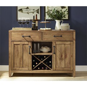 Wood Buffet in Natural Brown-Pemberly Row