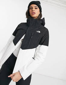The North Face Garner triclimate ski jacket in whi