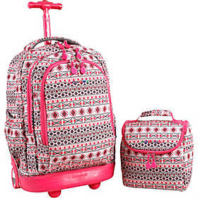 J World New York Setbeamer Rolling Backpack with L