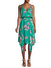 Nolen Floral Flowy Sleeveless Dress TEAL MAGNO