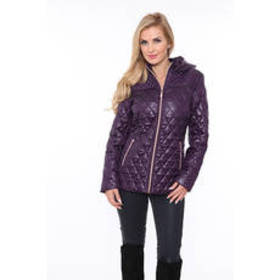 Womens White Mark Puffer Coat