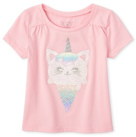 Baby And Toddler Girls Embellished Top