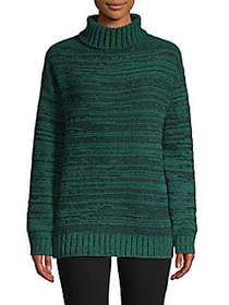 Textured Turtleneck Sweater GREEN