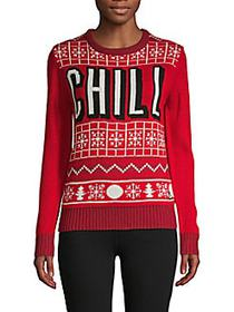 Graphic Pullover Sweater RED MULTI