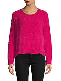 Long-Sleeve Sweater FUCHSIA