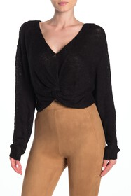 BCBGeneration Twist Hem V-Neck Sweater