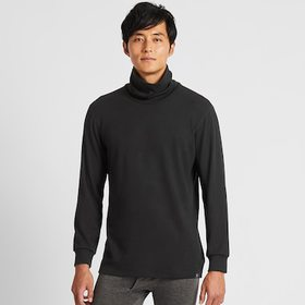 Men Heattech Ultra Warm Turtleneck Long-Sleeve T-S