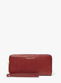[object Object] Leather Continental Wristlet