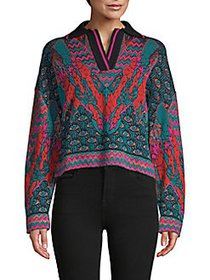 M Missoni Cropped Sweater GREEN PEACOCK