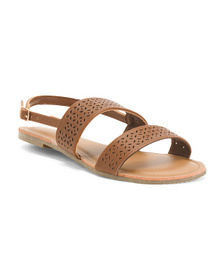 KENNETH COLE REACTION Perforated Band Sandals (Lit