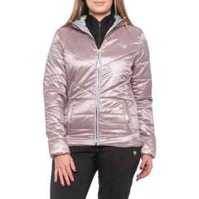 Iridescent Cire Puffer Hooded Jacket - Insulated (