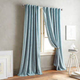 Front Row Woven Back Tab Rod Pocket Curtain Panel