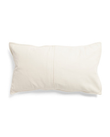 reveal designer 14x26 Genuine Leather Front Pillow