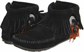 Minnetonka Concho/Feather Side Zip Boot