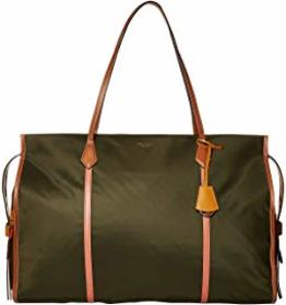 Tory Burch Perry Nylon Color-Block Oversized Tote